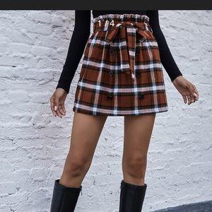 Large plaid fall skirt